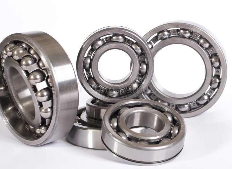Bearings. A lot of different bearings stock photo
