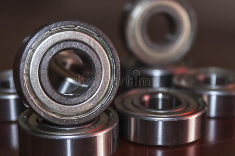 Bearings. Aligned in a row stock photography