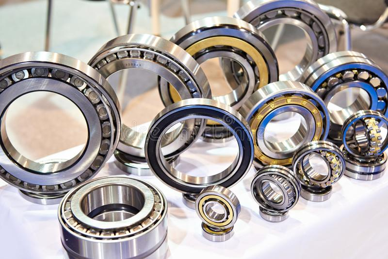Bearings of different sizes in exhibition royalty free stock images
