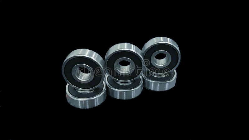 Bearings in process stock images