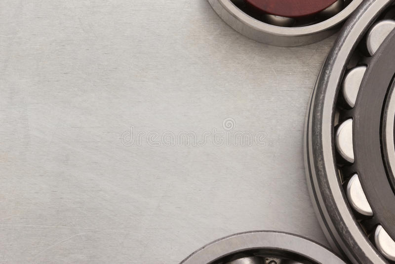 Bearings tool. At metal background royalty free stock image