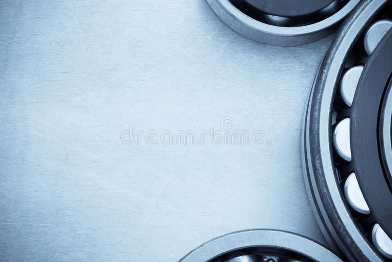 Bearings tool. At metal background stock images
