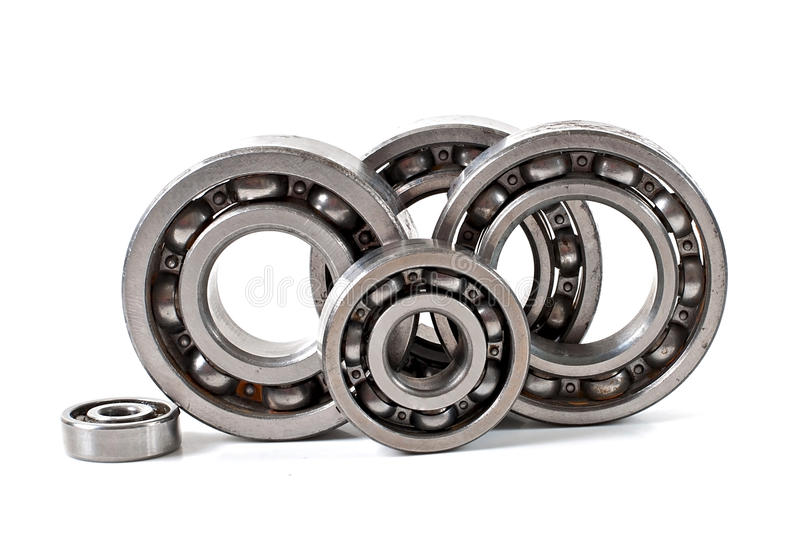 Bearings. On a white background royalty free stock image