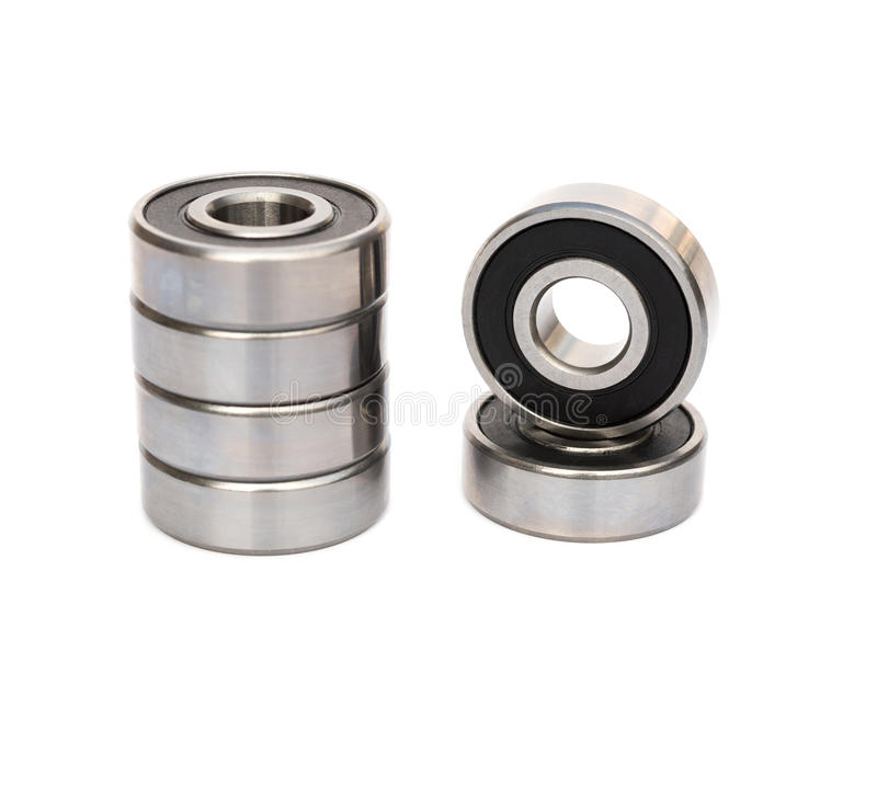 Bearings on white with clipping path. Bearings on white background with clipping path stock photo