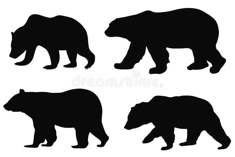 Bears. Abstract vector illustration of various bears