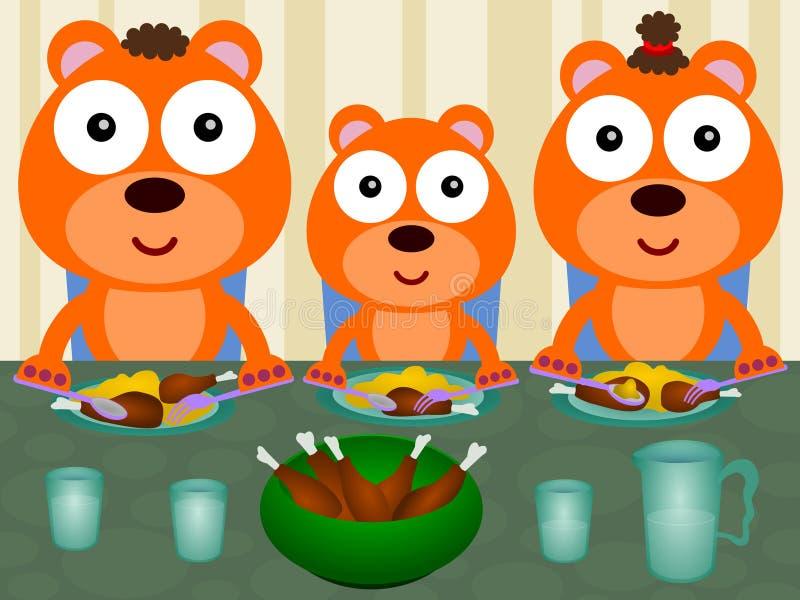 Download Bears eat together stock illustration. Illustration of daddy - 32651332