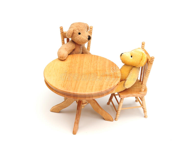 Bears in the kitchen royalty free stock photo