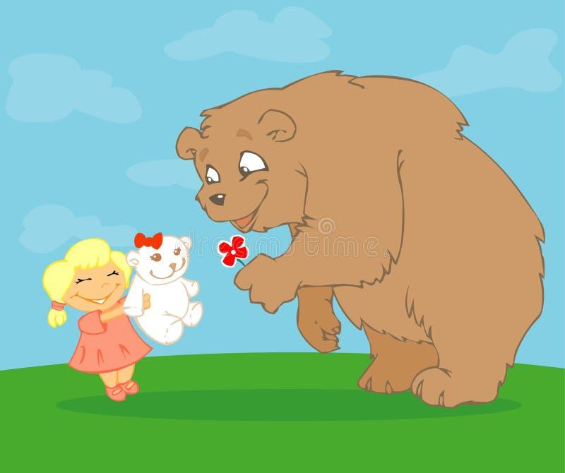 Bears love royalty free illustration
