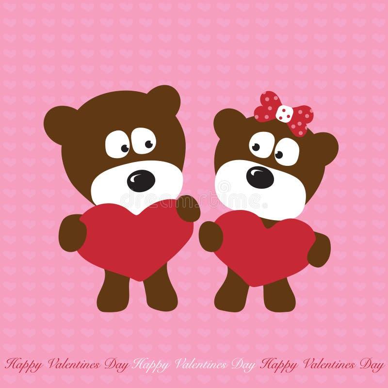 Download Bears in love stock vector. Image of design, bears, gesture - 8504392