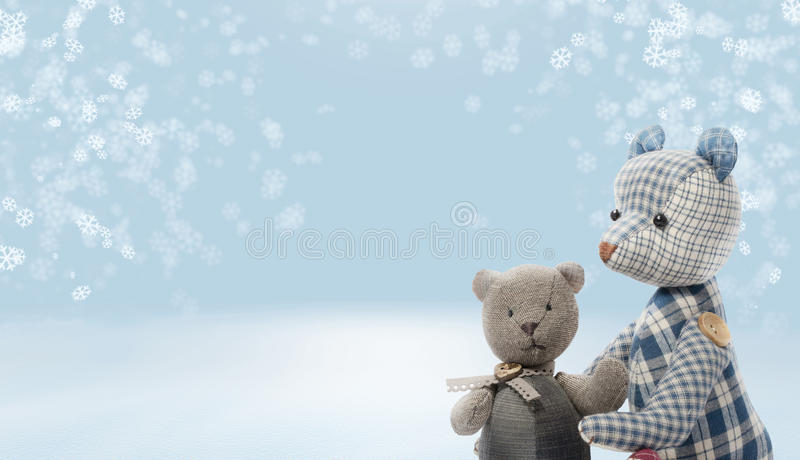 2 bears on snow background. royalty free stock photos