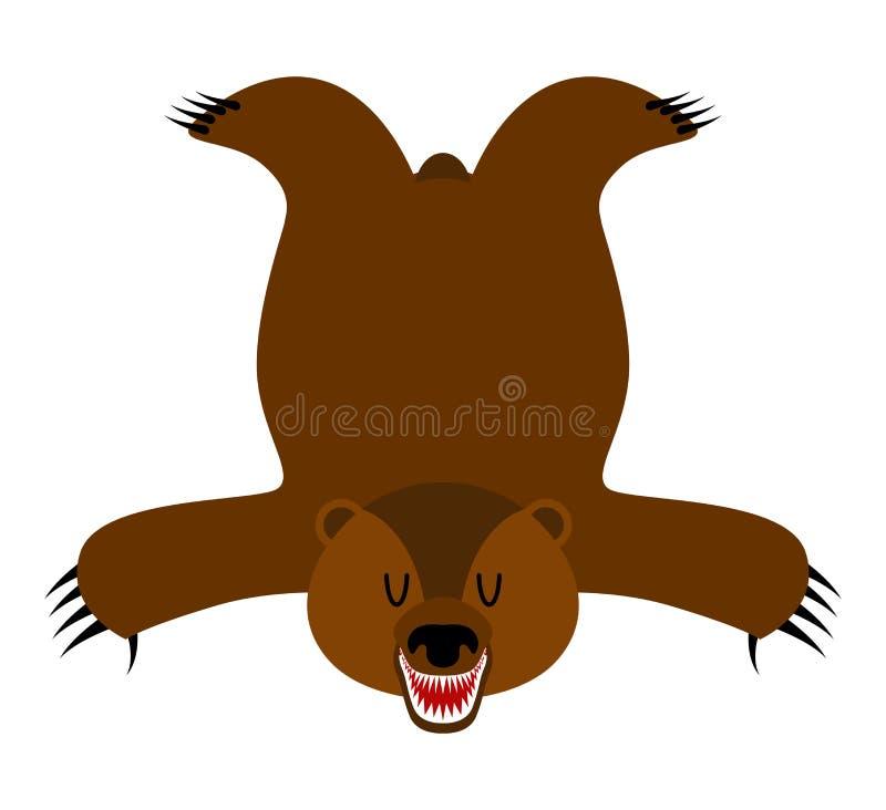 Bearskin do urso Pele do urso isolada Troféu do caçador isolado ilustração stock