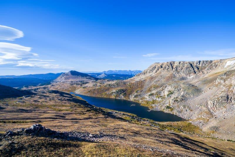 Beartooth山的高山湖 库存图片