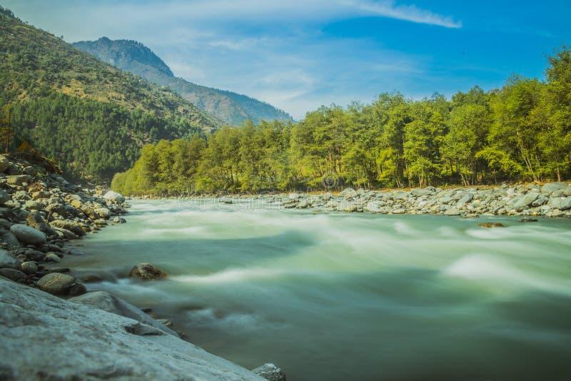 Beas River Kullu. Manali Himachal Pradesh stock images