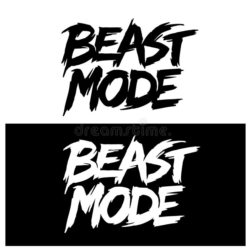 Free Beast Mode Hand Drawn Lettering. Vector Illustration. Royalty Free Stock Images - 122530469