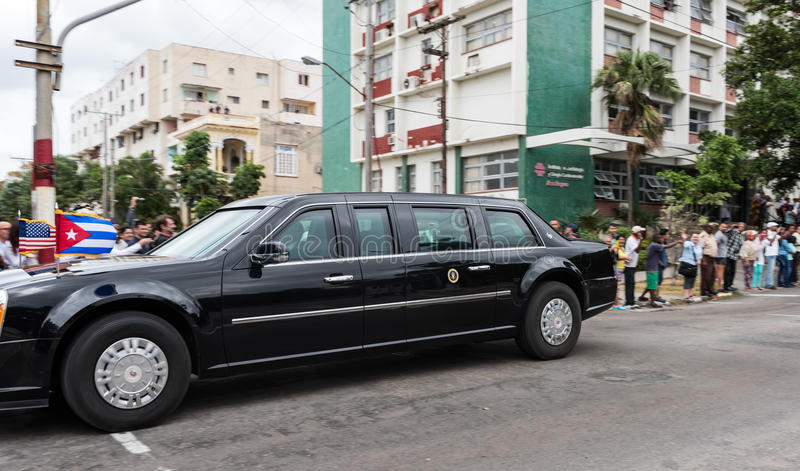 The Beast - US Presidential State Car In Havana, Cuba Editorial ...