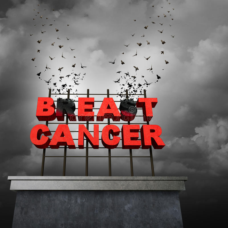 Beat Cancer Concept royalty free illustration