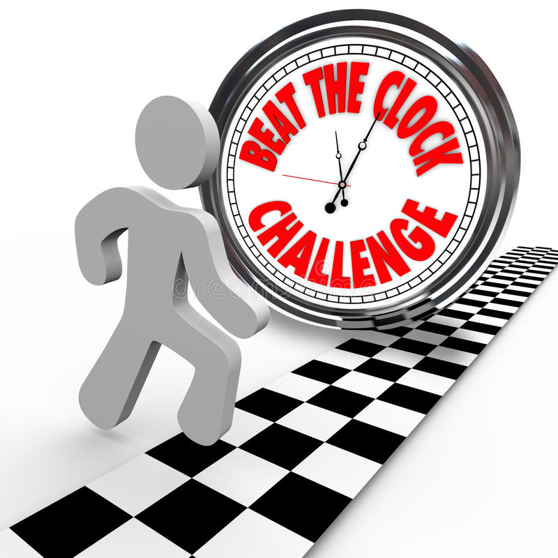 beat the clock challenge competitiontime countdown stock