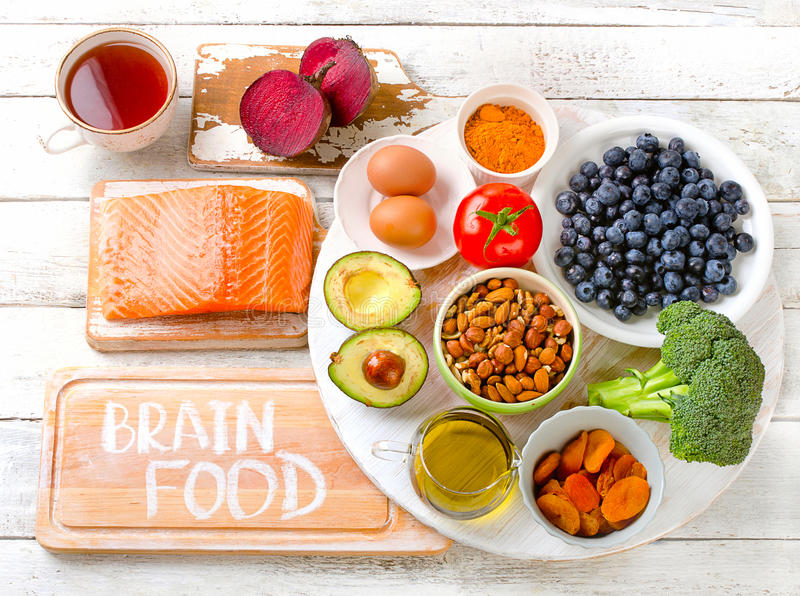 Beat Foods for your brain. royalty free stock photos