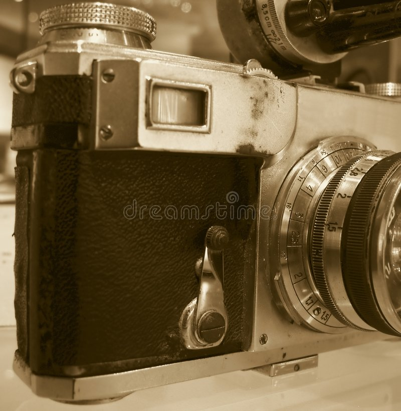 Beat Up Old Camera royalty free stock photo