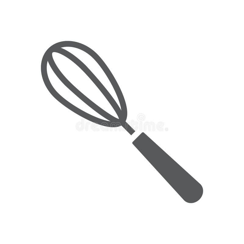 Beater αυγών glyph εικονίδιο, κουζίνα και μαγείρεμα διανυσματική απεικόνιση