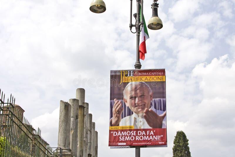 Beatification van John Paul II royalty-vrije stock fotografie