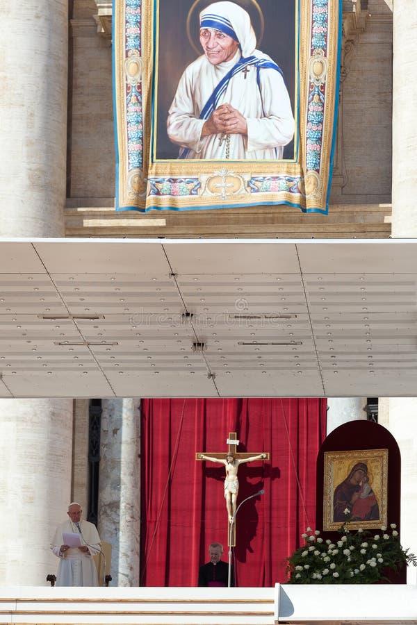 Beatification van Moeder Teresa van Calcutta royalty-vrije stock afbeelding