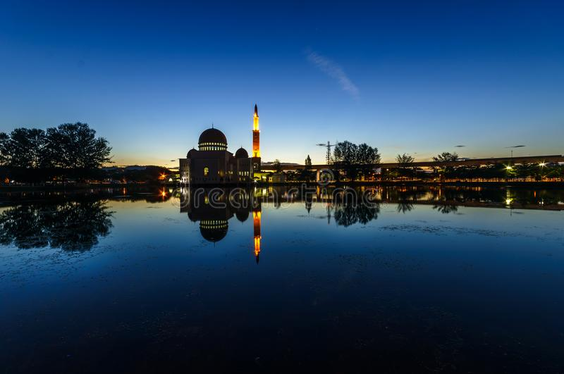Beatiful scene of islamic mosque royalty free stock photos