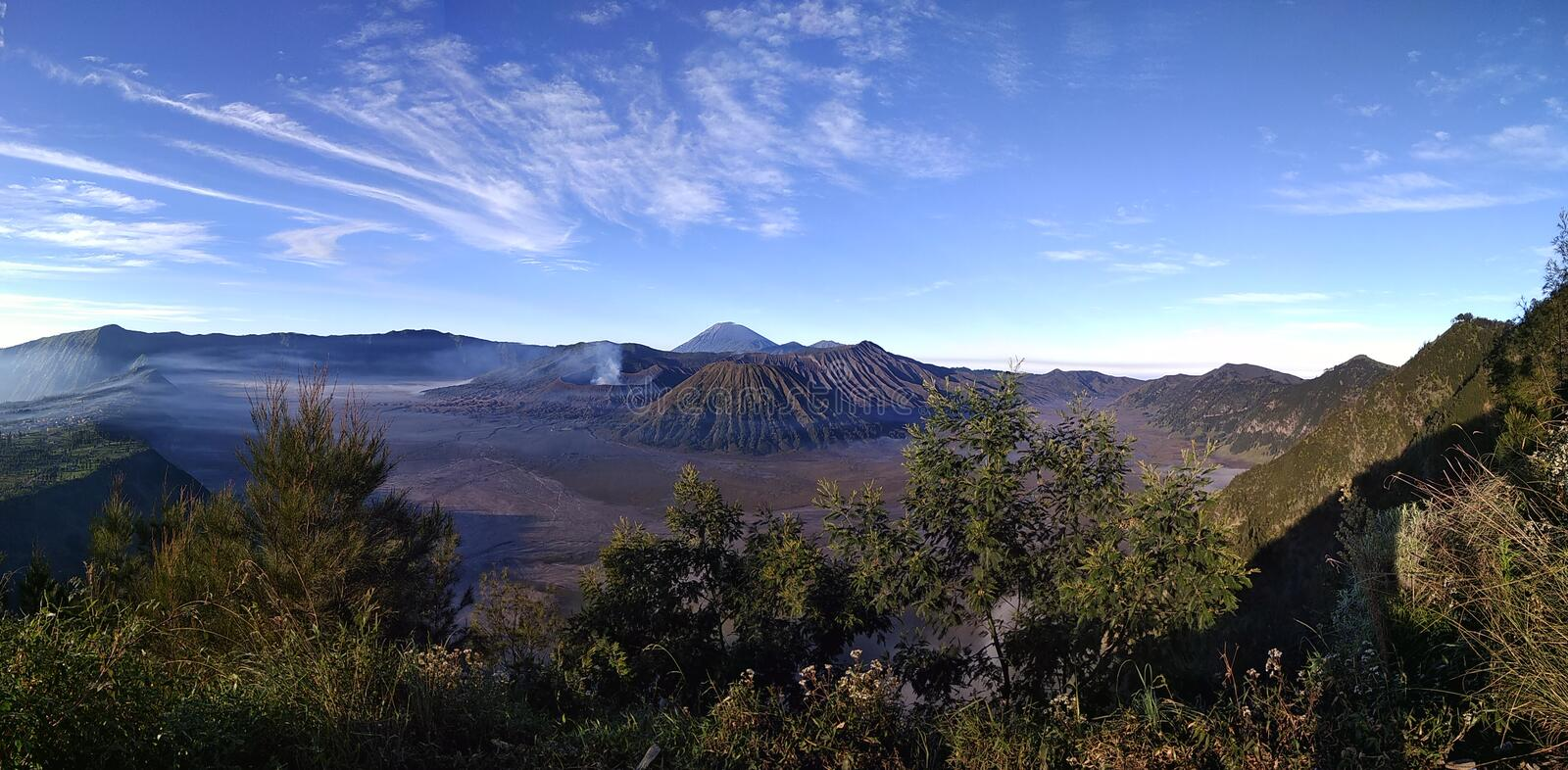 Beatiful scenery of Bromo Mountain stock images