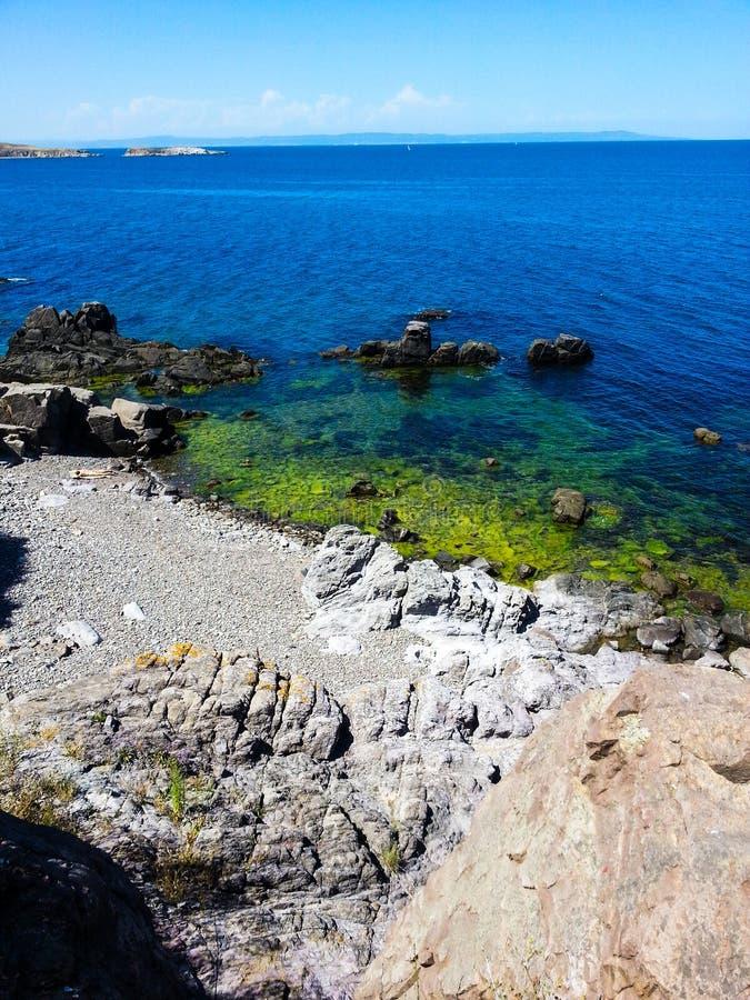 Beatiful sea bay royalty free stock photo