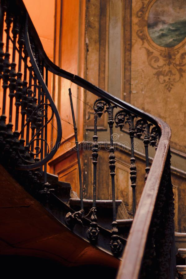 Beatiful stairs in the old Tbilisi house stock photography