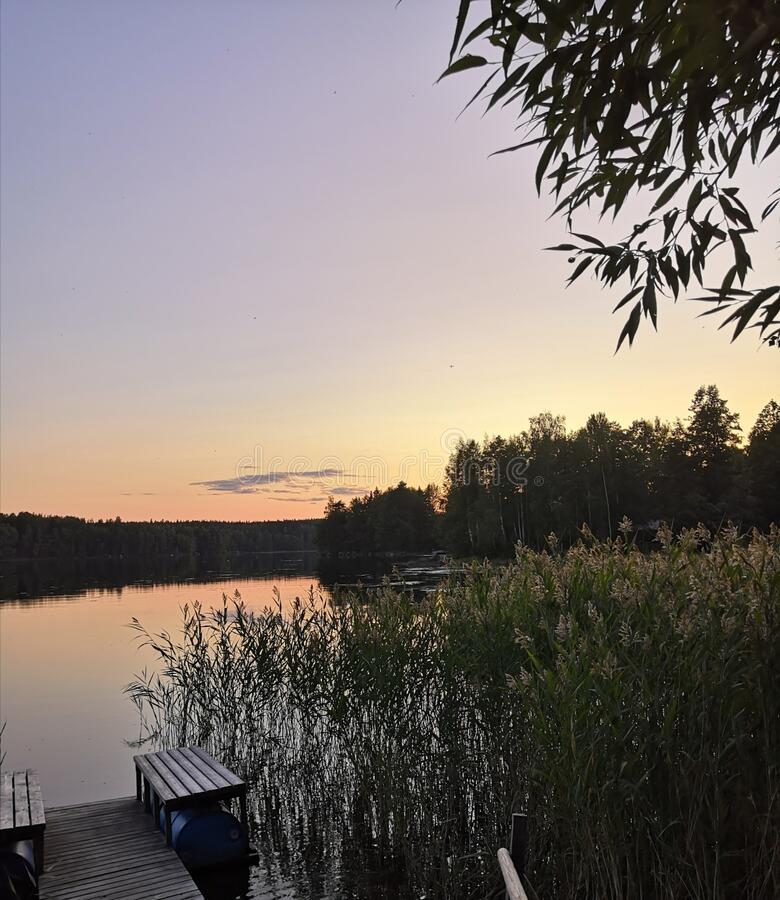 Beatiful summer evening. Beatiful shot from finnish summer evening royalty free stock images