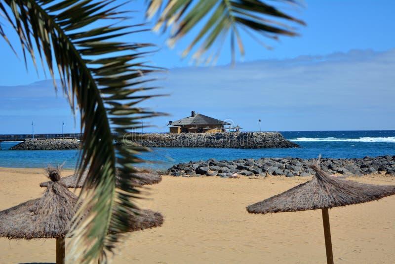 Beatiful tropical beach on Canary Island Fuerteventura Spain royalty free stock photo