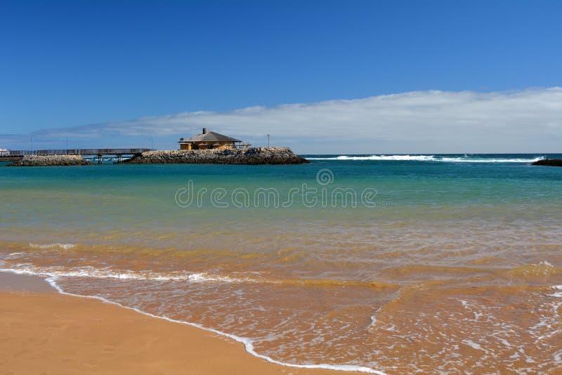 Beatiful tropical beach on Canary Island Fuerteventura Spain stock photo