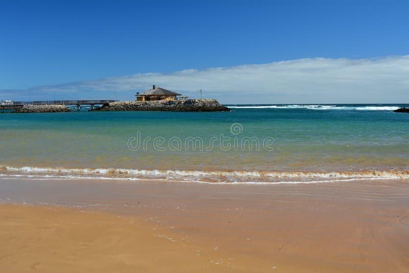 Beatiful tropical beach on Canary Island Fuerteventura Spain stock images