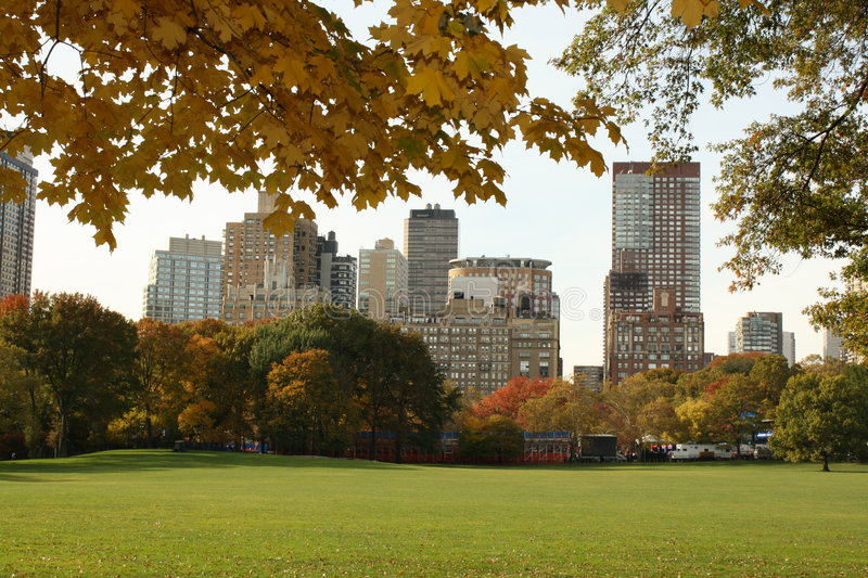Beatiful view from Central Park stock photo