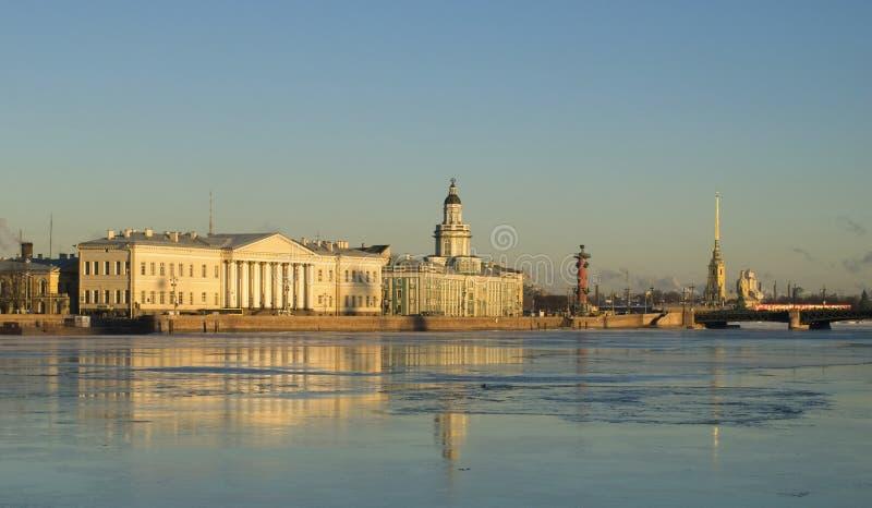 Beatiful view of Saint-Petersburg royalty free stock photos