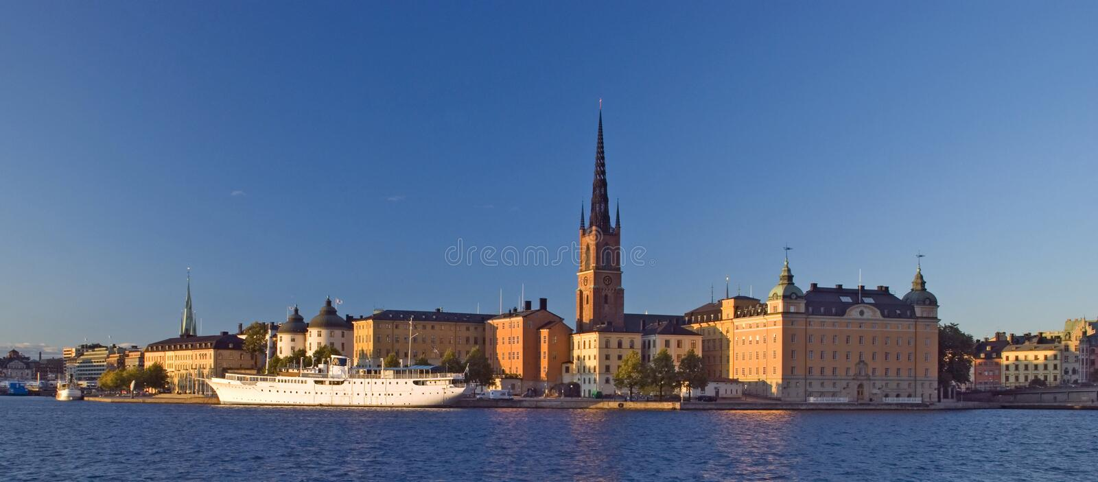 Beatiful view of Stockholm stock photography