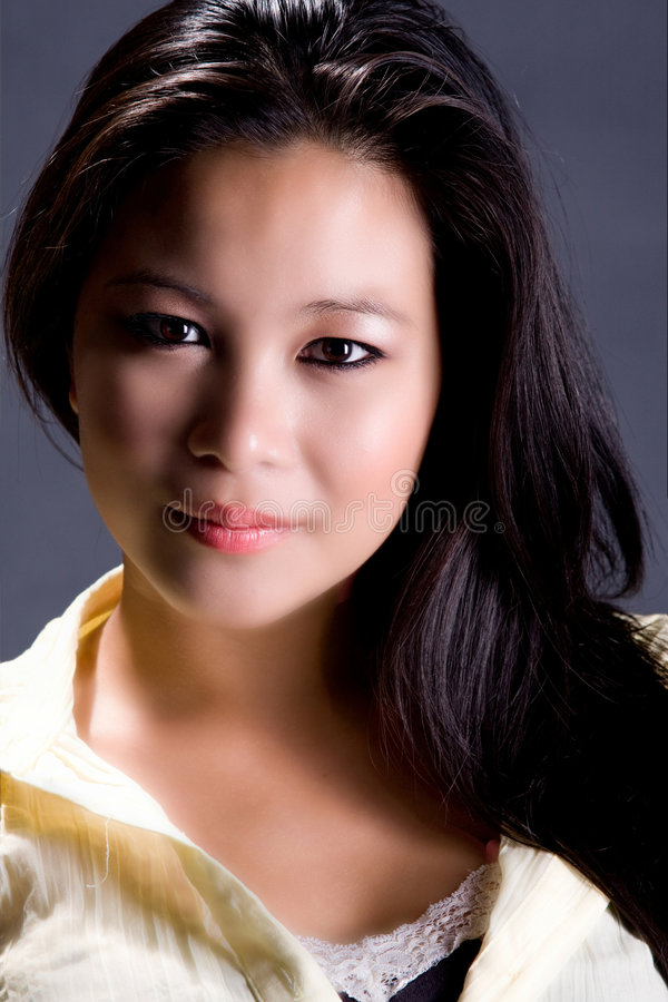 Beatiful women. Beautiful asian brunette women portrait stock photos