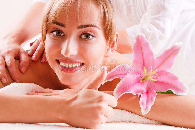 Beatiful women relax in spa royalty free stock image