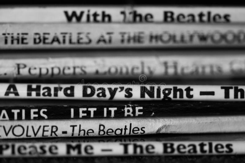 Beatles唱片汇集 免版税库存照片