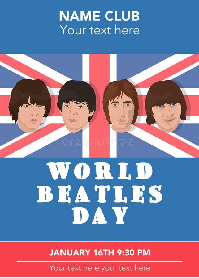 Beatles带 库存例证