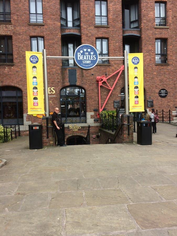 ` Beatles故事博物馆`,利物浦,大英国 库存照片