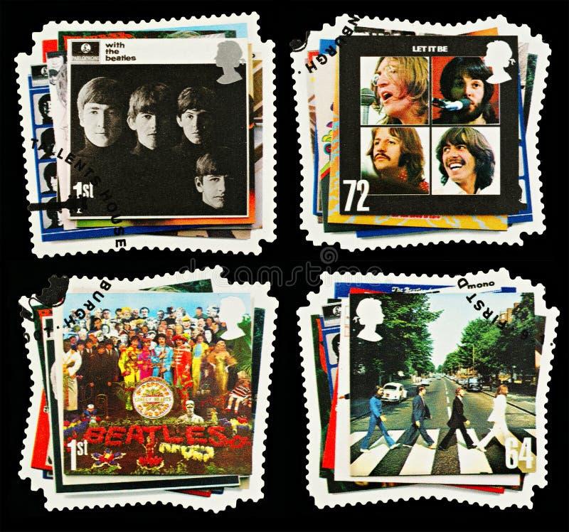 Beatles英国组流行音乐邮票 免版税图库摄影