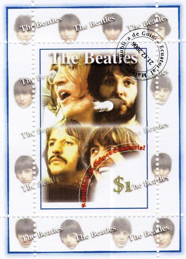 beatles γραμματόσημο στοκ φωτογραφίες