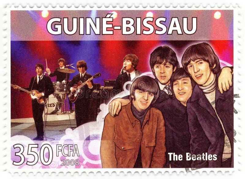 beatles γραμματόσημο στοκ φωτογραφία