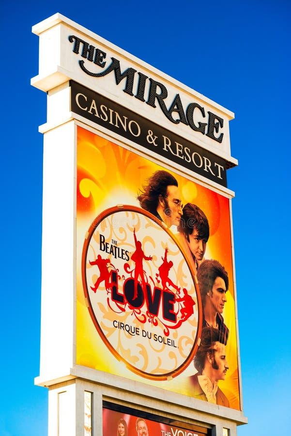 Beatles bij de advertentie van het Luchtspiegelinghotel stock foto