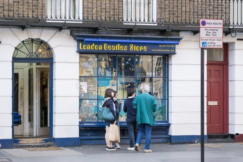 Beatles lageryttersida i London, UK royaltyfria bilder