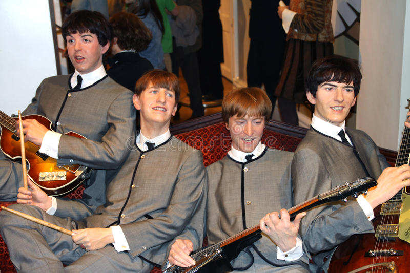 The Beatles at Madame Tussaud's stock photography