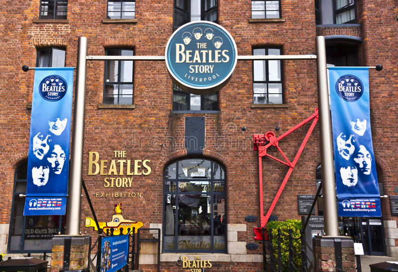 Beatles museum in Liverpool, England. stock image