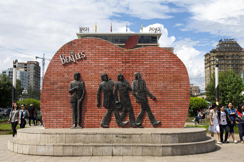 Beatles Sculpture in Ulanbaatar stock photography